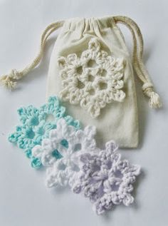 These Easy Crochet Snowflakes are great to hang on a tree or stick on a window.  Check out the crochet pattern by Flower Girl Cottage.
