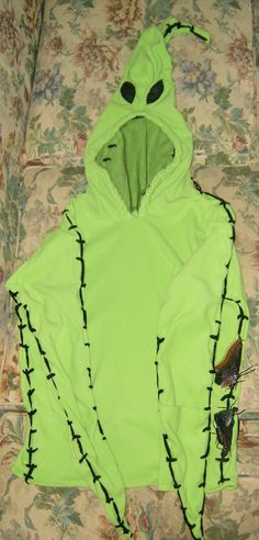 Kids Custom Made Oogie Boogie Nightmare Before Christmas Green Fleece Hoody Halloween Costume. $65.00, via Etsy.
