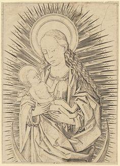 Virgin and Child on a crescent moon by Monogrammist FVB, 1480-1500 (PD-art/old), Muzeum Narodowe w Warszawie (MNW)