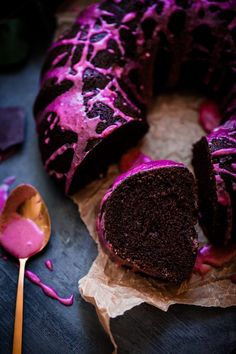 Chocolate Beet Bundt Cake with Beet Glaze. This incredibly moist, fluffy foolproof chocolate beet bundt cake is topped with a beautiful, naturally colored beet glaze!