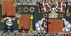 Zoo 2 Premade Scrapbook Pages Paper Piecing 4 Album Scrapbooking 3D by Cherry   eBay