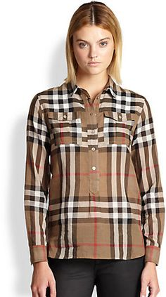 Burberry Check Tunic on shopstyle.com