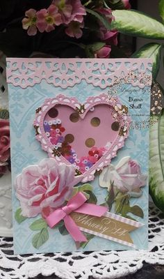 February 14...card designed by Diane Shull for Where Ideas Bloom design team and used Anna Griffin products.