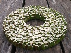 Spring wreath - Wood Slice Wall decoration - Wood Slice centerpiece - Wood Wall…