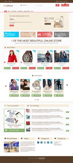 Free E-commerce PSD Template