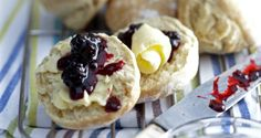 Irish scones with kerrygold grass fed butter and jam
