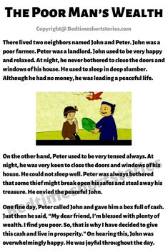 This is an amazing moral story for kids online. Full story in the link above, read now. Short Stories In English, English Story Telling, English Poems For Kids, English Moral Stories, Kids English, English Reading, Learn English Words, Children Stories With Morals, Stories With Moral Lessons
