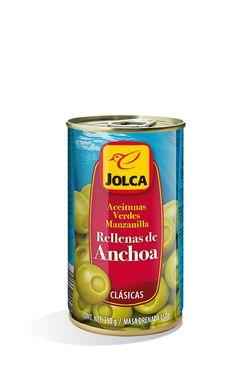 Rellenas con anchoa lata 370 ml #aceitunasrellenas #anchoa #Jolca