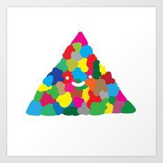 happy colour triangle Art Print by Jesus Maldonado - $17.00