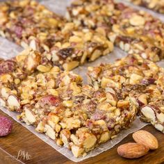 Wholesome and filling, I love to snack on Salted Caramel and Blueberry Almond Snack Bars. They're full of natural ingredients and no refined sugar.