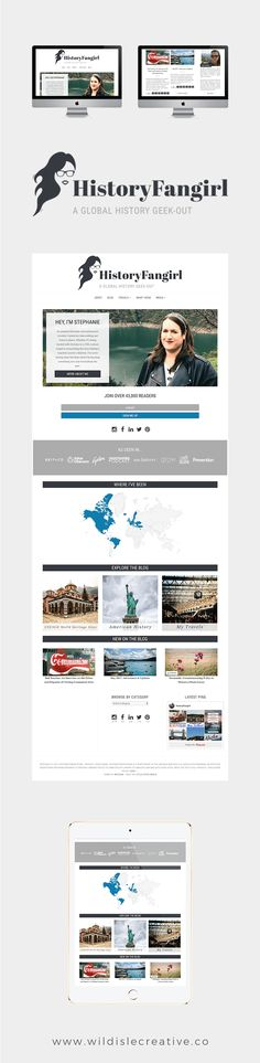 History Fangirl Website Design by Wild Isle Creative Co. Travel Website | Travel Blog Travel Website Design Travel Blog Design Travel Website Design Inspiration Wordpress Website Design