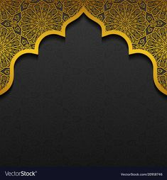 Floral background with traditional ornament Vector Image Islamic Background Vector, Banner Background Images, Luxury Background, Invitation Background, Wedding Background, Background Patterns, Ramadan Background, Background Powerpoint, Background Templates