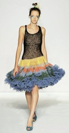 Ioannis Dimitrousis Knitwear Fashion, Crochet Fashion, Knit Picks, Beautiful Crochet, Crochet Clothes, Crochet Lace, Knit Dress, Mantel, Fashion Art