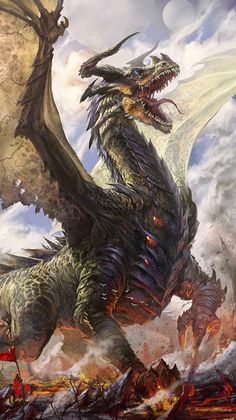 Madam_Valkyrie uploaded this image to 'Fantasy Art - Dragon'. See the album on Photobucket. Dragon Medieval, Medieval Fantasy, Dragon Rpg, Magical Creatures, Fantasy Creatures, Dragon Occidental, Anime Krieger, Cool Dragons, Dragon's Lair