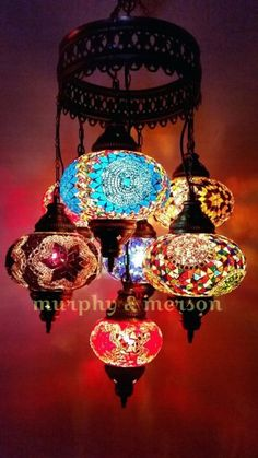 Turkish Pendant Mosaic Lamp 7 Globe Moroccan Style Chandeliers Hanging Light Night Tiffany Lamp Antique Lampshade Free Expedited Shipping - This is a handmade Turkish Moroccan light. -Mosaic manufacture in Anatolia dates back to 6000 years - Moroccan Lighting, Moroccan Lanterns, Moroccan Decor, Moroccan Style, Bohemian Lighting, Moroccan Chandelier, Moroccan Garden, Moroccan Bedroom, Moroccan Interiors
