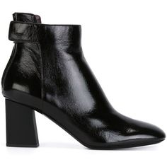Proenza Schouler Chunky Heel Ankle Boots ($810) ❤ liked on Polyvore
