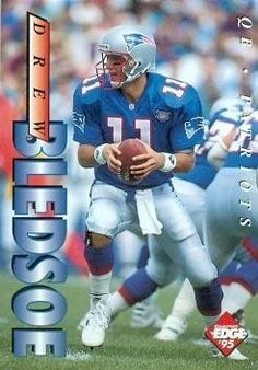 Drew Bledsoe Football Card (New England Patriots) 1995 Collectors Edge #129 by Hall of Fame Memorabilia. $30.95. Drew Bledsoe Football Card (New England Patriots) 1995 Collectors Edge #129. Signed items come fully certified with Certificate of Authenticity and tamper-evident hologram.