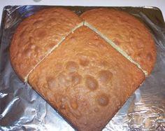 Square cake + round cake = HEART CAKE!
