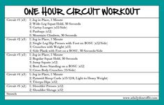 A Daily Dose of Fit: One Hour Circuit Workout, Weekend Recap