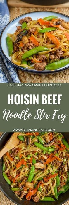 Slimming Eats Quick Hoisin Beef Noodle Stir Fry - gluten free, dairy free, Slimming World and Weight Watchers friendly fry recipe slimming world Quick Hoisin Beef Noodle Stir Fry Quick Beef Recipes, Good Healthy Recipes, Easy Healthy Dinners, Asian Recipes, Cooking Recipes, Free Recipes, Thai Cooking, Chinese Recipes, Asian Cooking