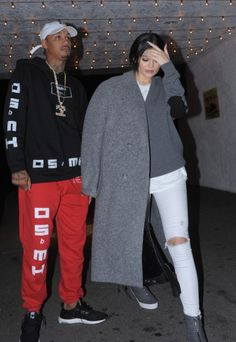 Kylie Jenner Dresses Casual-Chic on Dinner Date with Tyga and Friends in L.A.