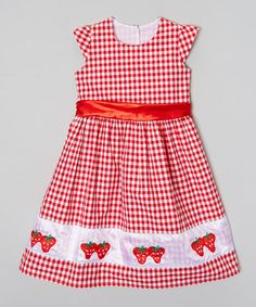 Look what I found on #zulily! Red & White Berry Bliss Dress - Infant, Toddler & Girls by Hartland Sisters #zulilyfinds