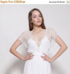 Valentine Day SALE Bohemian lace wedding dressopen by Barzelai