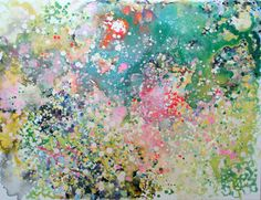 """""""Good Day for Hanami Part,"""" original abstract painting by artist Marina Nelson (Canada) available at Saatchi Art #SaatchiArt."""