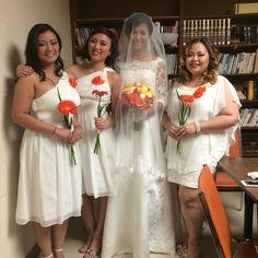 Bride & her maids