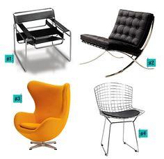As cadeiras mais importantes do design