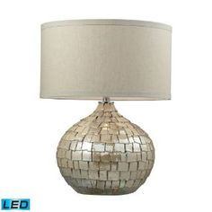 Check out the Dimond Lighting D2264-LED Canaan 1 Light LED Table Lamp in Cream Pearl