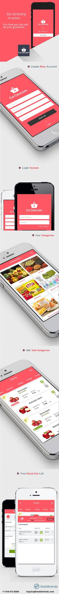 Grocery App ui kit at Free of Cost