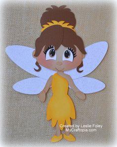 Disney Fairies Iridessa Premade Scrapbooking adorno papel