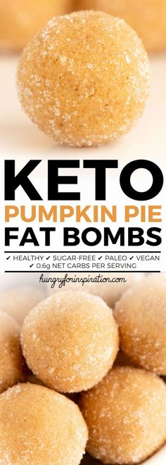 Healthy No Bake Pumpkin Pie Keto Fat Bombs (Keto Dessert, Low Carb Desserts, Ket… Gesunde No-Bake-Kürbiskuchen-Keto-Fettbomben (Keto-Dessert, kohlenhydratarme Desserts, Keto-Snacks) – Paleo & Vegan Vegan Keto, Keto Diet List, Starting Keto Diet, Keto Fat, Diet Food List, Low Carb Keto, Ketogenic Diet, Vegetarian Keto, Low Carb