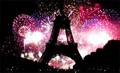 feux d'artifice à Paris #feuxdartifice paris tour eiffel champ de mars animation giff anime