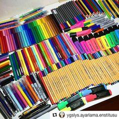 """Çok hoş olmamış mı ya :))"""" #Repost @ygslys.ayarlama.enstitusu with @repostapp ・・・ Göz kaslarını geliştirmek için ideal#mydesk #ygs #lys #2017tayfa #opozulo #pen #stabilo #fabercastell #study #color"""
