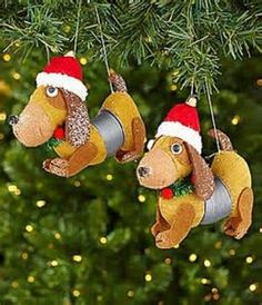 Christmas Tree Ornaments Slinky Dog's Set Of 2  NEW Expandable #Trimsetter