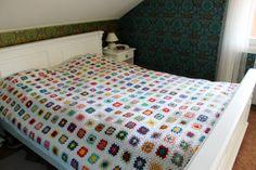 Virkade mormorsrutor. crochet, DIY, filt, granny square,