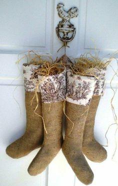 chaussettes déco de style champêtre
