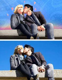 Amyplier - Kissing on the cheek by FloatingMegane-san.deviantart.com on @DeviantArt