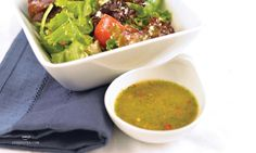 This Garlic Feta Dressing is the perfect zinger for your lunchtime salad. Featuring Steeped Tea's Garlic Chili Cheeseball Mix and easy to make. Cookbook Recipes, Tea Recipes, Real Food Recipes, Recipies, Best Mexican Recipes, Ethnic Recipes, Best Marinara Sauce, Mexican Street Food, Salads