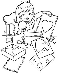 Kids Valentines Day Coloring Page