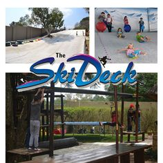"""We have 2 large properties adjacent to each other that we use for 2 of the best fun party venues in Johannesburg.  The original party place is """"The Ski Deck®"""" where children may slide down the ski slope on a bumboard.  The other venue called """"Slip and Slide"""", here the kids enjoy sliding down a giant waterslide into the pool."""