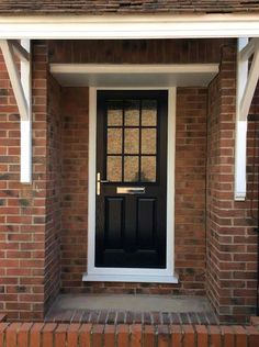Image result for black 2 panel 1 window door
