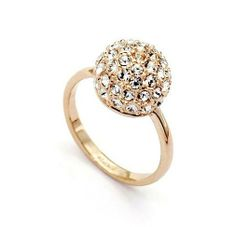 Retro Fashion Rose Gold Plated crystal Couple Rings