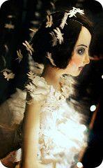 Artist: Christine Alvarado.  Love the dragonfly veil!