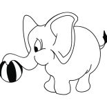 Vinilo decorativo, Vinilo infantil - Elefante Elesio