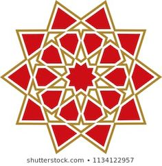 Ottoman Tile & Tezhip motifs are very similar to each other. Sacred geometry, star mandala, vector illustration. Ten sided geometric. It can be used as wall decoration, banner, motif, gift card, icon Islamic Art Pattern, Arabic Pattern, Pattern Art, Geometric Coloring Pages, Geometry Art, Sacred Geometry, Isometric Drawing, Abstract Face Art, Ramadan Crafts