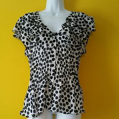 Allison Taylor top size XL Very lightweight almost sheer polkadot top.  It buttons up the front and has cute cap sleeves.  Never worn. Allison Taylor  Tops Button Down Shirts