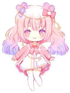 [Open] cotton candy cupid ~ adopt auction by deency anime chibi, kawaii anime Kawaii Anime, Cute Anime Chibi, Kawaii Chibi, Kawaii Art, Chibi Love, Chibi Girl, Kawaii Drawings, Cute Drawings, Kodama Tattoo
